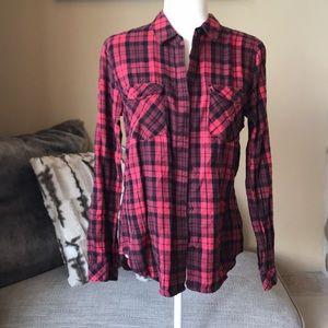 Sanctuary Black & Red Flannel. Size M.
